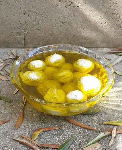 כדורי לאבנה שקדים בשמן זית