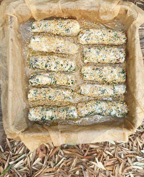 בורקס גבינת שקדים ותרד